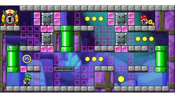 Miiverse screenshot of the 59th official level in the online community of Mario vs. Donkey Kong: Tipping Stars