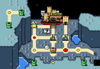 The world Valley of Bowser as it appears in Super Mario World.