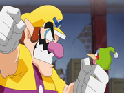 Wario, about to set off to Shake Dimension.