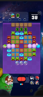 Stage 295 from Dr. Mario World
