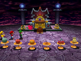 Bowser didn't say anything about grapes in Fruits of Doom from Mario Party 4