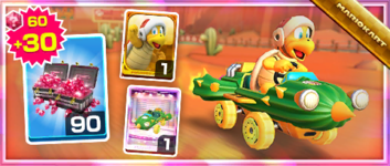 The Cact-X Pack from the Sunset Tour in Mario Kart Tour