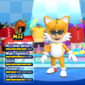 "Miles ""Tails"" Prower Mii Costume in the game Mario & Sonic at the London 2012 Olympic Games for the Wii."
