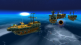 "A screenshot of Bowser Jr.'s Airship Armada during the ""Sinking the Airships"" mission from Super Mario Galaxy."