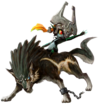 Wolf Link & Midna's Spirit sprite from Super Smash Bros. Ultimate