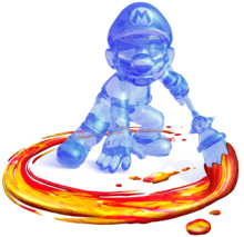 Shadow Mario with the Magic Paintbrush from Super Mario Sunshine