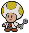Toad Researcher in Paper Mario: The Origami King