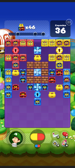 Stage 264 from Dr. Mario World