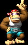 Artwork of Funky Kong for DK: Jungle Climber