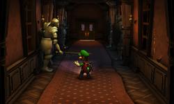 The Guard Hall segment from Luigi's Mansion: Dark Moon.