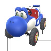 Blue Turbo Yoshi from Mario Kart Tour
