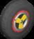 The Yoshi_Black tires from Mario Kart Tour