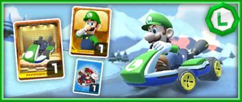The Green Standard 8 Pack from the Mario vs. Luigi Tour in Mario Kart Tour
