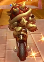 Dry Bowser performing a Trick