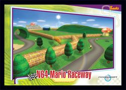 The <small>N64</small> Mario Raceway card from the Mario Kart Wii trading cards