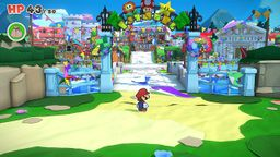 Entry of Toad Town in Paper Mario: The Origami King