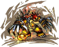 Mario Strikers Charged Artwork: Bowser