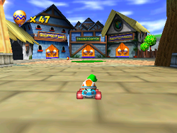 The lobby for Dragon Forest in Diddy Kong Racing