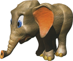 Artwork of Ellie the Elephant from Donkey Kong Country 3: Dixie Kong's Double Trouble!