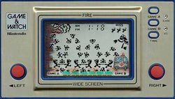 A screenshot of the product Fire from the Game & Watch series