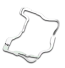 Map of <small>Wii</small> Wario's Gold Mine in Mario Kart 8 Deluxe.