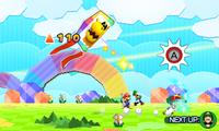 Paper Mario running to elevate the Trio Kite.