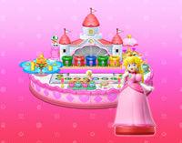 Peach as an amiibo in Mario Party 10