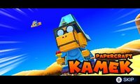 Papercraft Kamek (Mario & Luigi: Paper Jam).