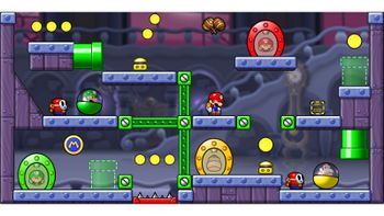 Miiverse screenshot of the 29th official level in the online community of Mario vs. Donkey Kong: Tipping Stars