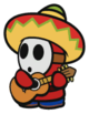 A Sombrero Guy from Paper Mario: Color Splash