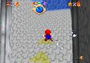 Mario swimming in the castle