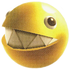 Artwork of a Gold Chomp from Super Mario Galaxy 2