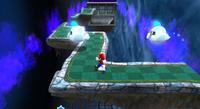 Mario near some Octoboos in the Haunty Halls Galaxy