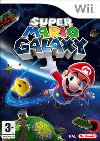 The front box art for Super Mario Galaxy in the UK