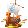 Snowmad Ship trophy from Super Smash Bros. for Wii U