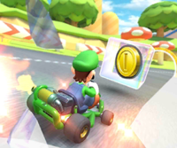 The icon of the Metal Mario Cup challenge from the Mario Bros. Tour and the Baby Rosalina Cup challenge from the 2021 Yoshi Tour in Mario Kart Tour