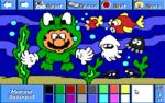 Mario as a marine biologist.