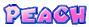 Peach's name from Mario Kart Arcade GP 2