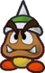Sprite of a Spiky Goomba, from Paper Mario: The Thousand-Year Door.