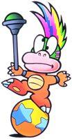 Artwork of Lemmy Koopa for Super Mario Bros. 3