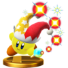 Beam Kirby's trophy render from Super Smash Bros. for Wii U