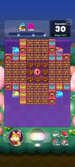 Stage 1073 from Dr. Mario World