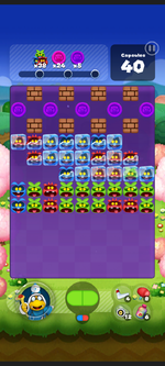 Stage 557 from Dr. Mario World