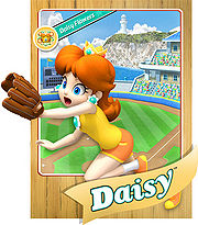 Level 1 Daisy card from the Mario Super Sluggers card game