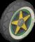 The Ring8_BlackYellow tires from Mario Kart Tour