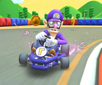 The Waluigi Cup Challenge from the Baby Rosalina Tour of Mario Kart Tour