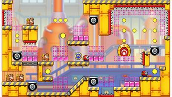 Miiverse screenshot of the 32nd official level in the online community of Mario vs. Donkey Kong: Tipping Stars
