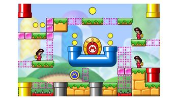 Miiverse screenshot of the 53rd official level in the online community of Mario vs. Donkey Kong: Tipping Stars