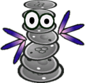 Sprite of a Back Cursya from Super Paper Mario.