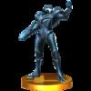 Trophy of Dark Samus in Super Smash Bros. for Nintendo 3DS.